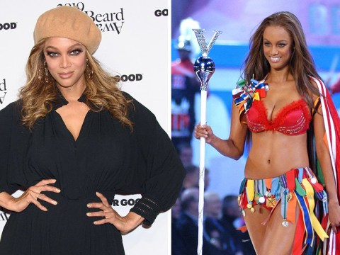 Tyra Banks wore long trains on Victoria's Secret runway to 'hide cellulite'