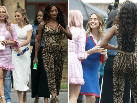 Mel B and Geri Horner giggle together at Spice Girls reunion shoot after Emma Bunton claims they 'love the drama'