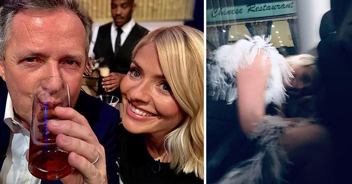Piers Morgan shows us what happens when he gets drunk with Holly Willoughby and things look messy