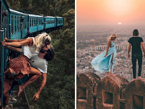 Another Instagram couple slammed for hanging out of moving train for kissing picture
