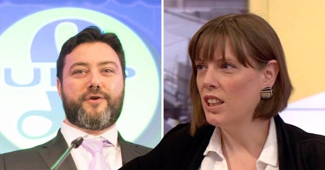 Jess Phillips MP and Ukip's Carl Benjamin