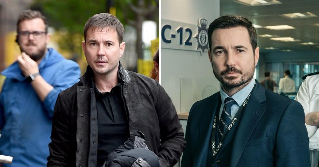 Martin Compston filming his new drama