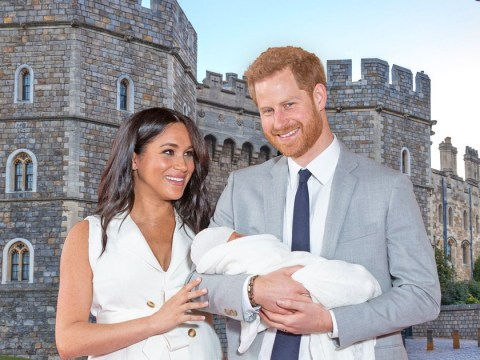 Where did Harry and Meghan's first appearance with the royal baby happen and can you visit?