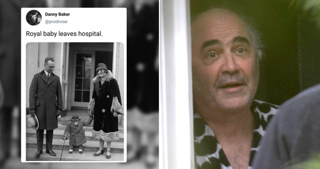 Danny Baker posted a picture likening Archie the royal baby to a chimpanzee