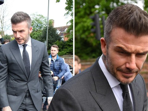 David Beckham banned from driving for six months after using phone behind the wheel