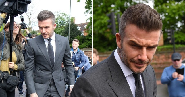 David Beckham arrives at Bromley Magistrates Court
