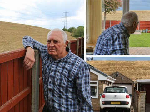 Pensioners slam builders for spoiling countryside views with 'huge pile of muck'