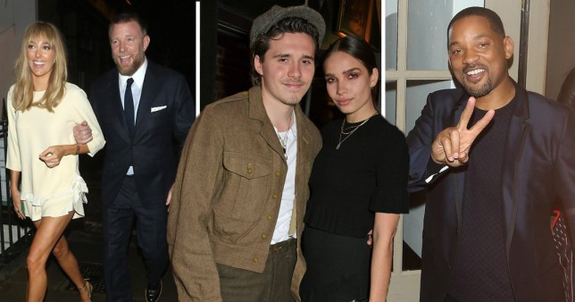 Aladdin cast after party at Guy Ritchie's pub