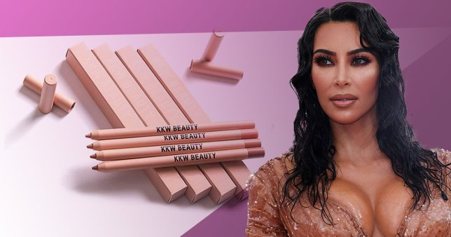 Kim Kardashian gets straight back to promoting lip liner minutes after announcing son's birth