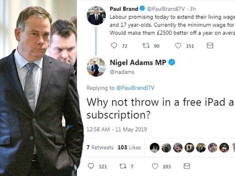 Tory MP sparks outrage by mocking minimum wage for young workers