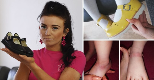 Sophia Maria Deakin, 22, was shocked to find strap marks on her daughter's feet