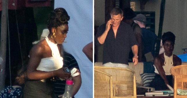 Daniel Craig films Bond 25 scenes alongside new Bond Girl Lashana Lynch in Jamaica