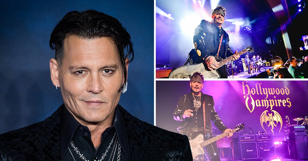 Johnny Depp and Hollywood Vampires perform at the Greek Theatre in Los Angeles