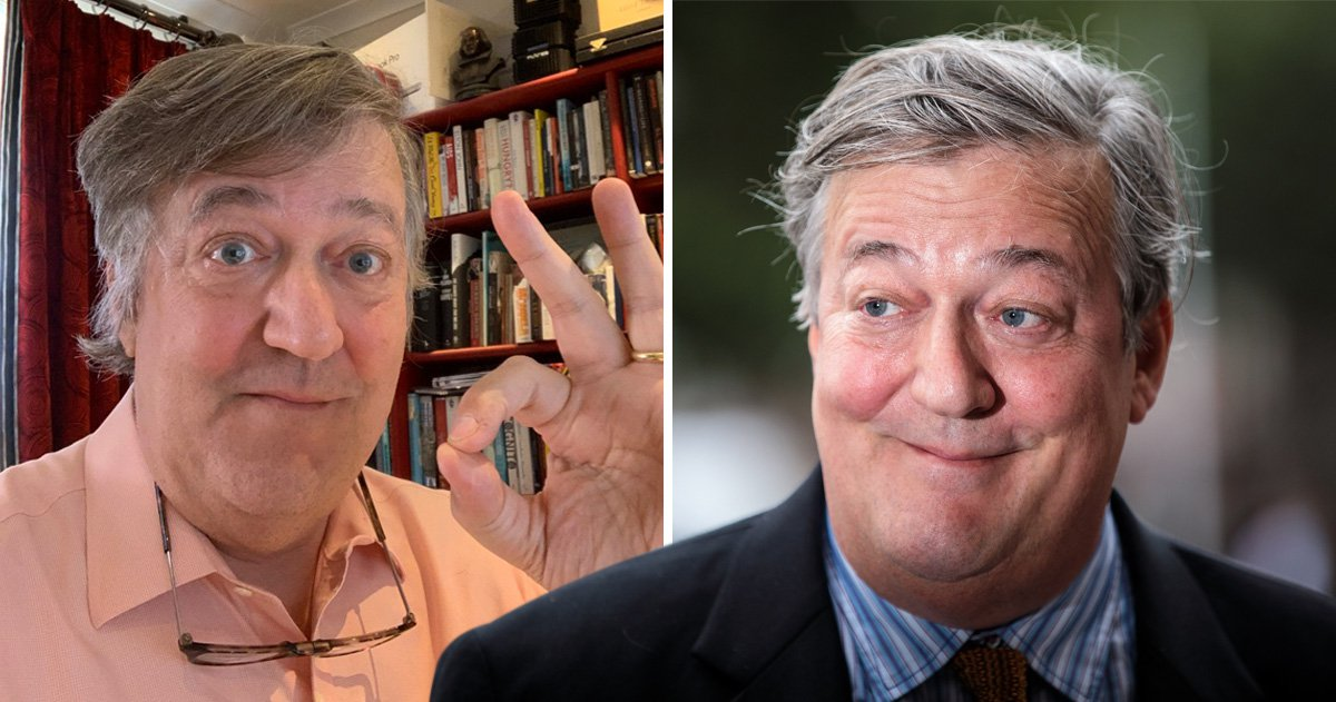 Stephen Fry accused of using White Power gesture in post about mental health