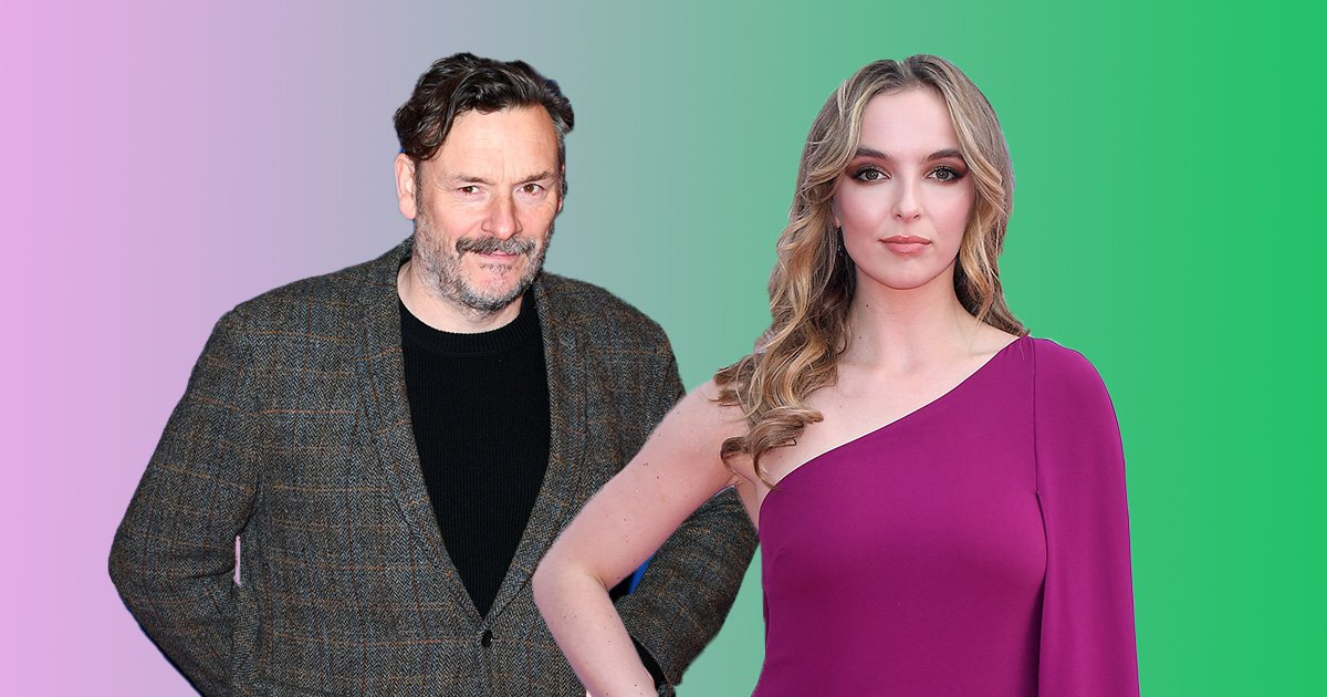 Actor Julian Garratt will play Julian on Killing Eve and is pictured in a compilation photo with Jodie Comer, who plays Villanelle