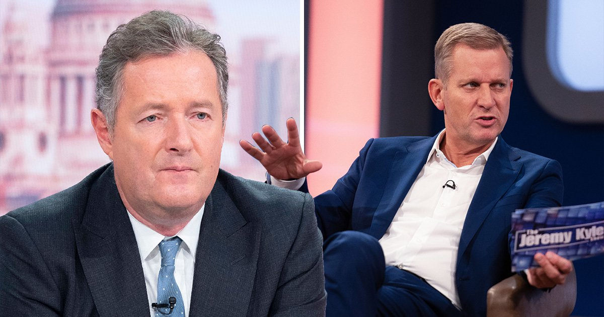 Piers Morgan pictured with Jeremy Kyle