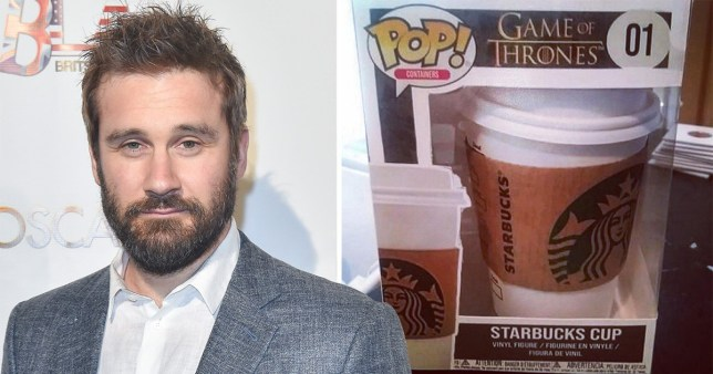 Clive Standen makes a joke about the Starbucks coffee cup blunder from Game Of Thrones