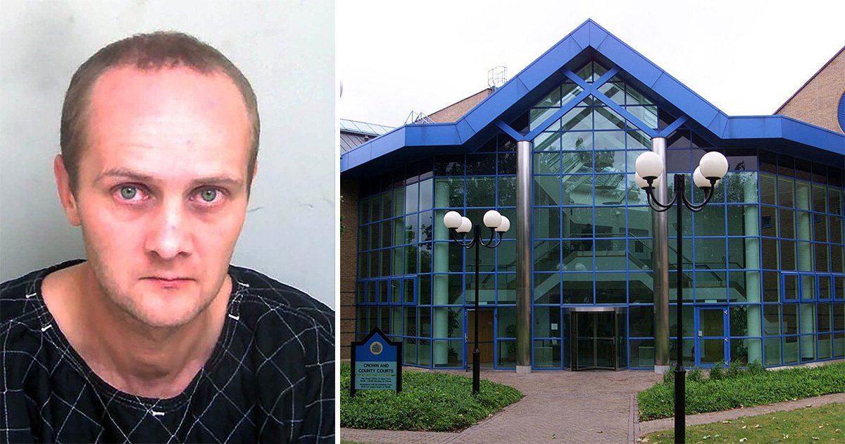 Ricardas Tiskus, 39, is due to be sentenced today at Basildon Crown Court for breaking into a woman's home and waiting in her living room before raping her.