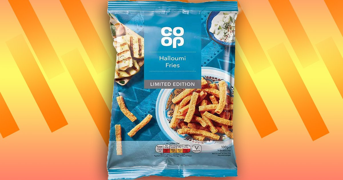 Co-op launches £1 bags of halloumi fries crisps – and they're vegetarian