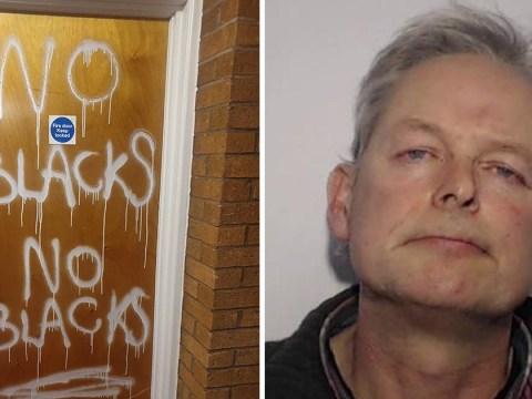 Man jailed after painting 'no blacks' on African neighbour's door