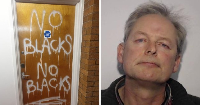 Vaughan Dowd painted the words 'no blacks' just days after Jackson Yamba and son David moved into their new home in Salford