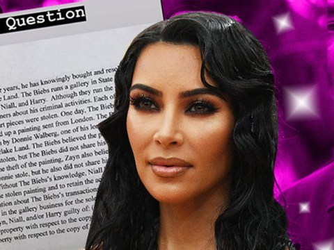 Kim Kardashian's law exam questions are about Justin Bieber and One Direction