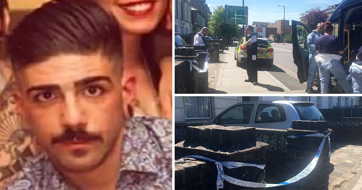 First picture of man dumped in wheelie bin behind Waitrose in north London