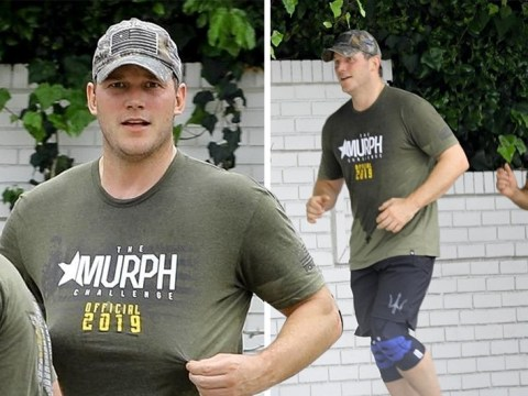 Chris Pratt works up a sweat with the normal people during boot camp workout