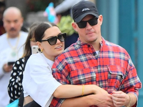 Channing Tatum actually puts on some clothes as he takes Jessie J to Disneyland