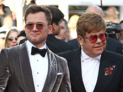 Taron Egerton and Elton John having time of their lives at Cannes as actor kisses Rocketman's hand