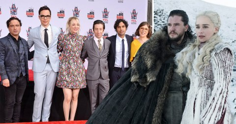 The Big Bang Theory cast on the red carpet and Game Of Thrones' Jon Snow and Daenerys