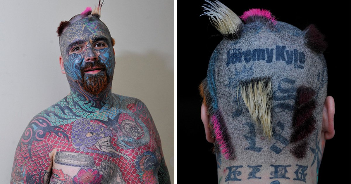 Britain's most tattooed man defends Jeremy Kyle show saying it did more good than bad