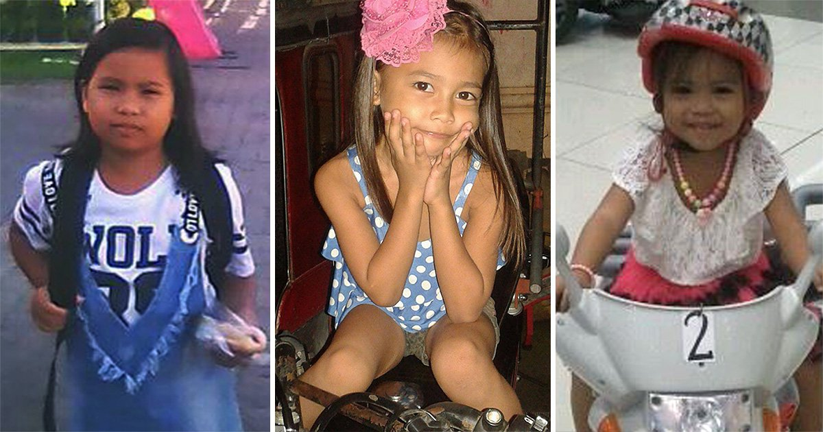 Agatha Morales, nine, Shamel Alghela Morales, eight, and Pauline Keziah Morales, six, were playing together
