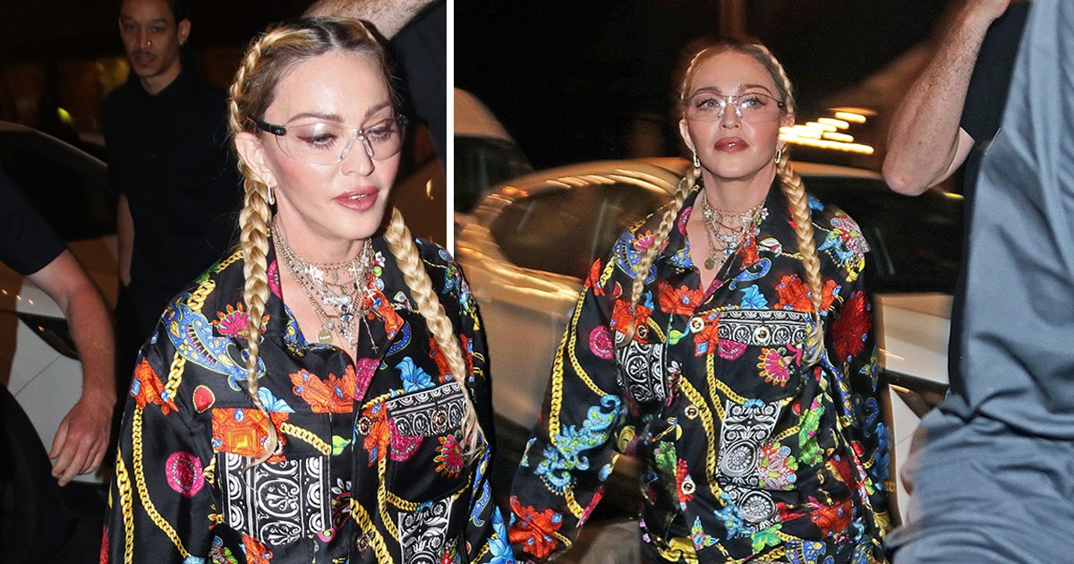Madonna serves welder realness in plastic goggles as she parties in Tel Aviv ahead of Eurovision