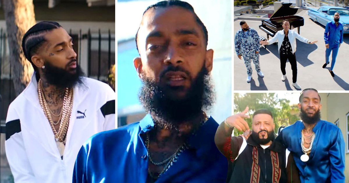 Nipsey Hussle in Higher song video with Dj Khaled and John Legend