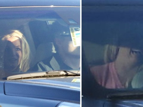 Britney Spears looks stronger than yesterday as she laughs away in car following claims she'll never perform again