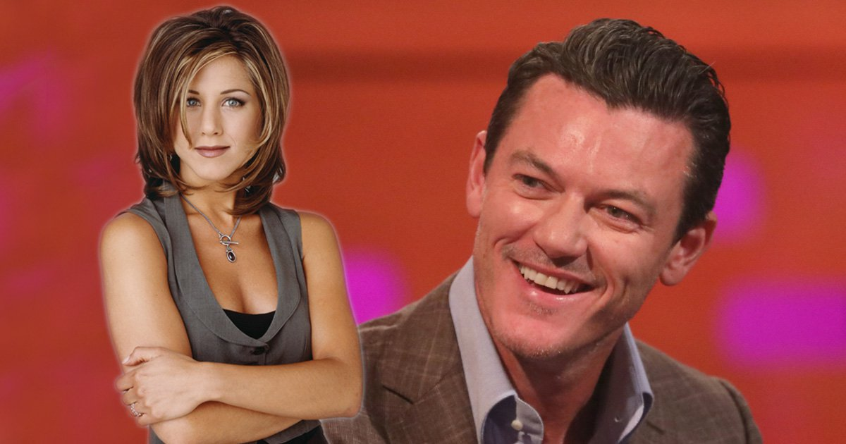 Luke Evans was in the middle of epic Friends reunion at Jennifer Aniston's house and we're crazy jealous