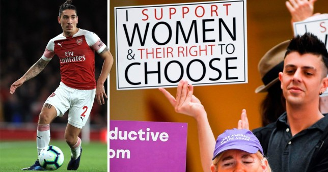 Hector Bellerin and men challenges football world to speak out against abortion bill