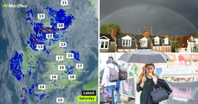 UK will see spells of sunshine and showers this weekend