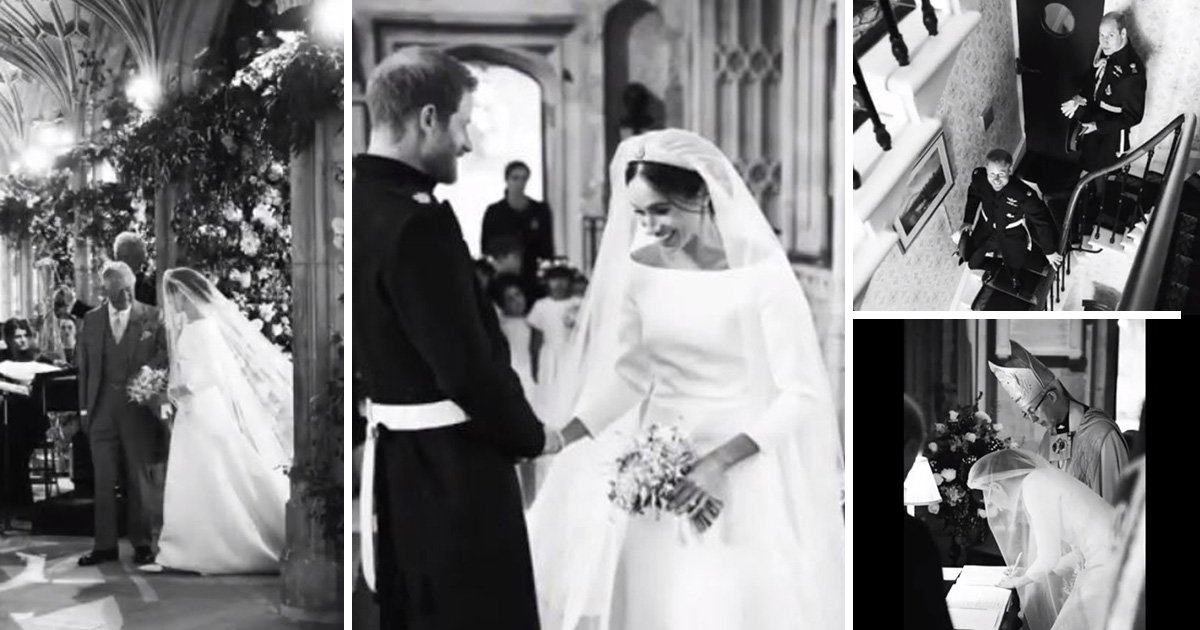 Harry and Meghan share behind-the-scenes pictures on first wedding anniversary