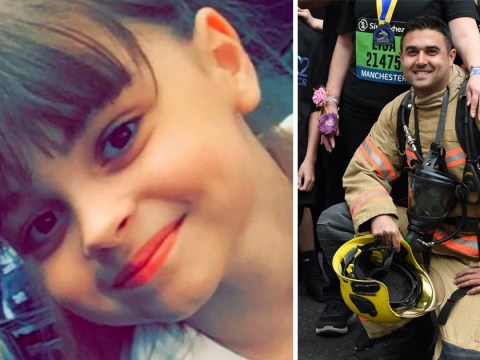 Firefighter dedicates 22nd race to youngest Manchester victim Saffie Roussos