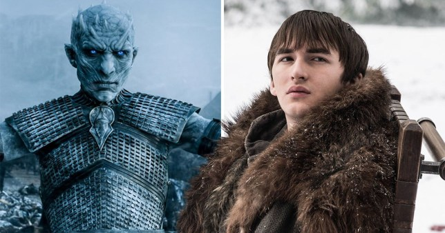 Bran Stark and The Night King in Game of Thrones