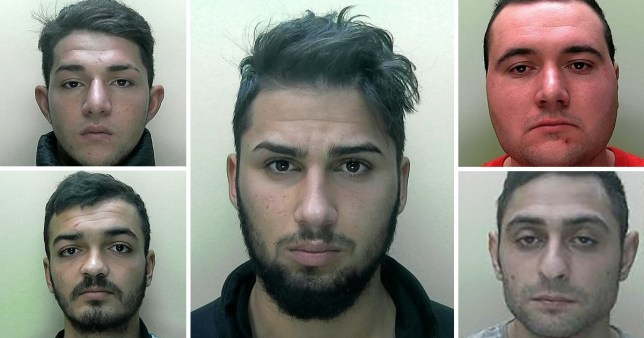 Five former farm workers have been jailed for the 'appalling' gang-rape of a young woman in Jersey.