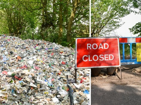 Fly-tippers dump tonnes of rubbish on millionaire's village