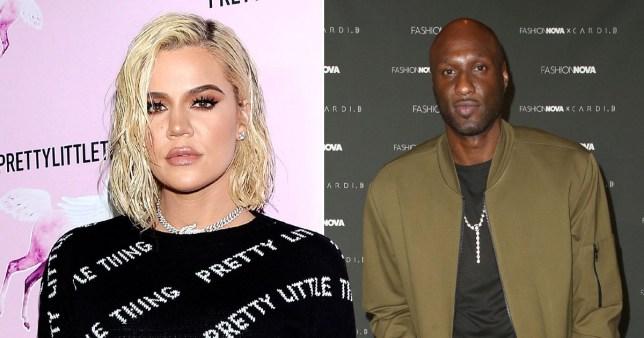 Khloe Kardashian and ex husband Lamar Odom