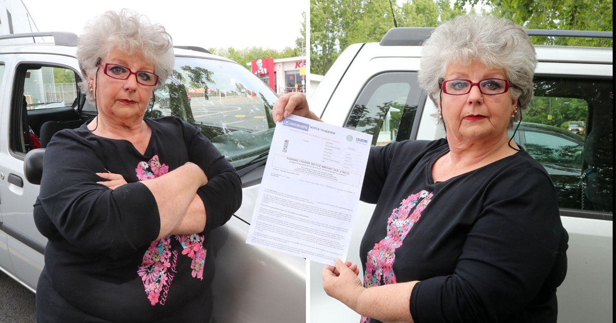 Grandma fined £100 for overstaying KFC car park by 18 minutes