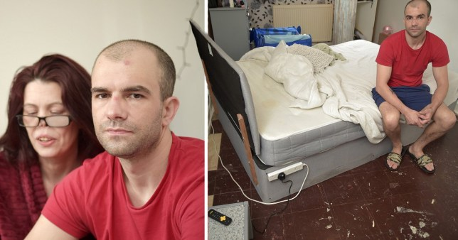 Mark Pelling and Claire Thompson and their insect infested Middlesbrough flat