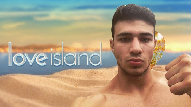 Tommy Fury in front of love island