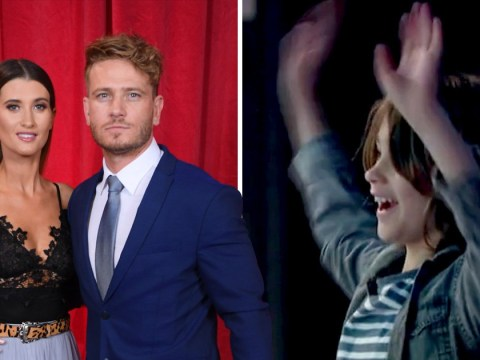 Emmerdale's Matthew Wolfenden and Charley Webb's son Buster gatecrashes Lorraine interview and our hearts