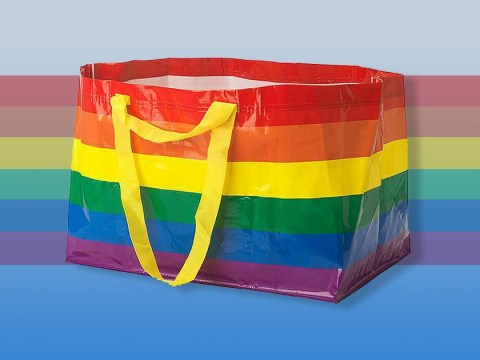 Ikea's big blue bag gets a rainbow makeover to celebrate Pride